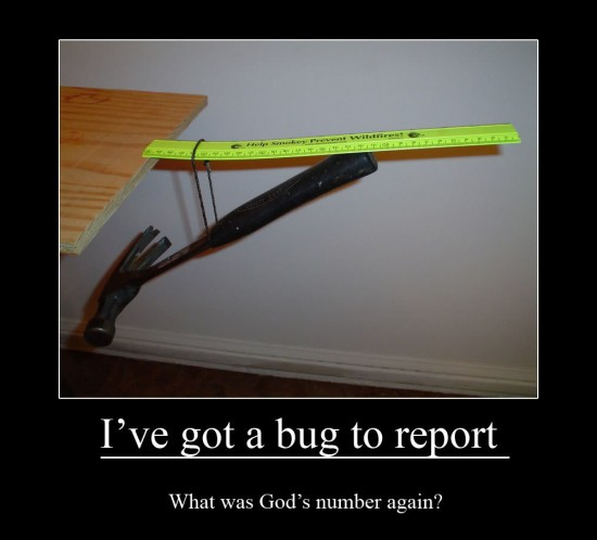Bug Report concerning 'Laws of Physics'