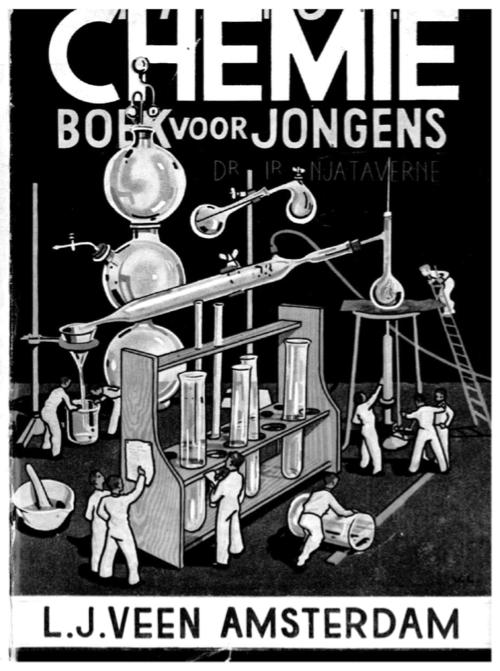 """Voorkant van """"Het Nieuwe Chemieboek voor Jongens"""""""