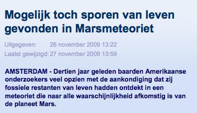 Mogelijk toch sporen van leven gevonden in Marsmeteoriet | nu.nl_wetenschap | Het laatste nieuws het eerst op nu.nl-0