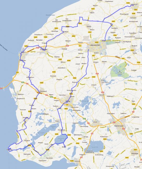 Route Elfstedentocht
