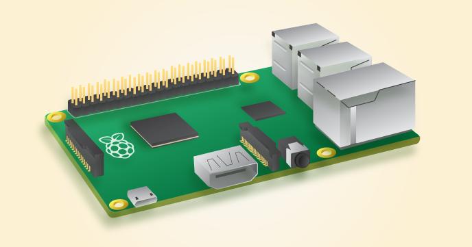 Afbeelding van onze nieuwe server: een Raspberry Pi 2 Model B, met een 900 MHz quad-core ARM Cortex-A7, 1 GB SDRAM en een 8 GB microSD. Creative Commons CC BY-SA.