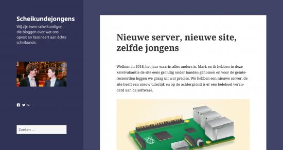 Screenshot nieuwe site zoals die wordt weergegeven op desktops.