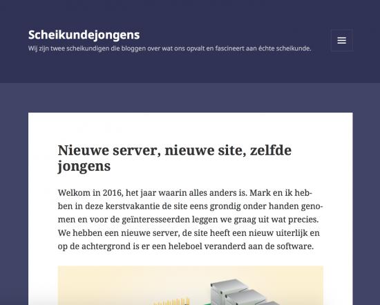 Screenshot nieuwe site zoals die wordt weergegeven op tabletformaat.