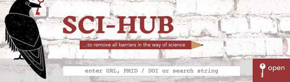 Homepage van Sci-Hub.cc. Klik op de afbeelding om naar de site te gaan.